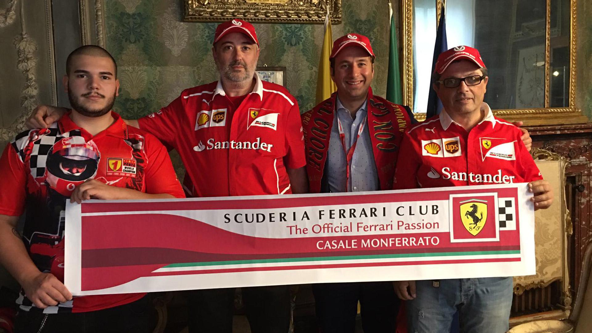 """E' nato il club ufficiale del cavallino rampante """"Scuderia Ferrari Club"""" di Casale Monferrato"""" - Monferrato Web TV"""